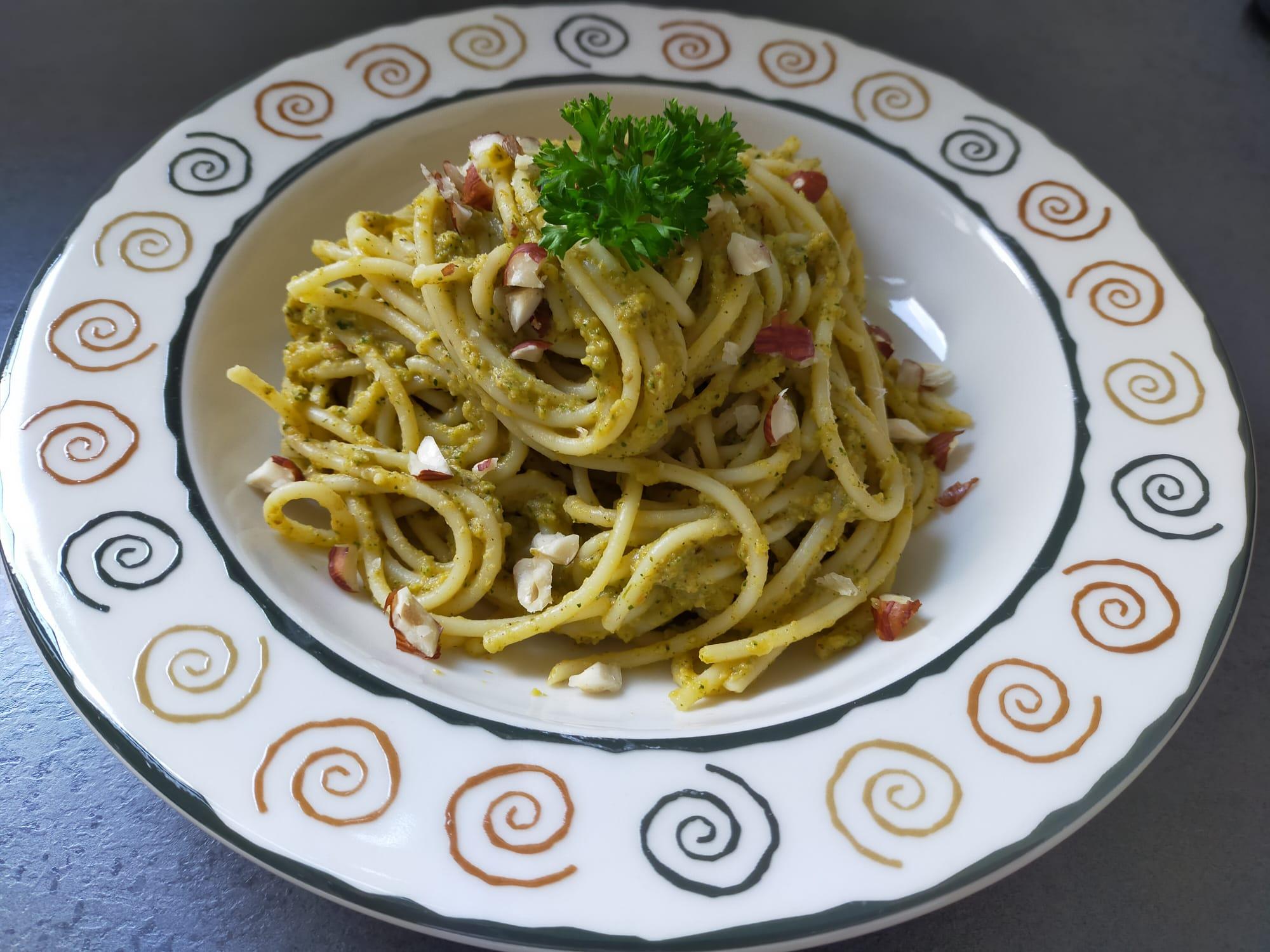recept naoberkrat Pasta romesco met geroosterde groenten
