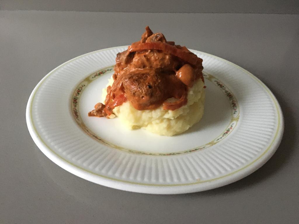 naoberkrat recept stroganoff aardappelpuree