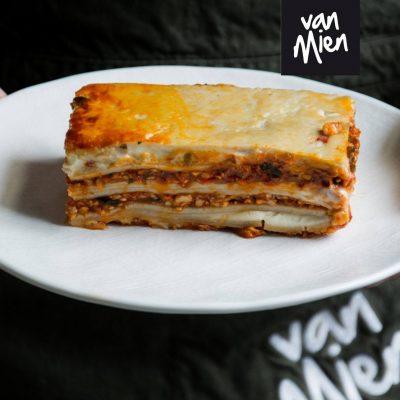 meeneem maaltijd van mien vegetarische lasagne