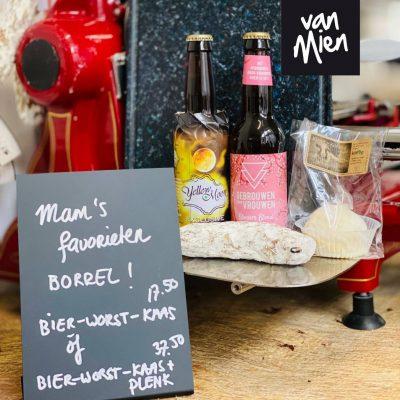 Mien's Moederdag Worst & Bier cadeaupakket